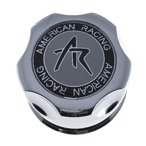 "American Racing Wheel Center Cap 3.42"" Snap In Chrome 5x135 6x135 1342100S"