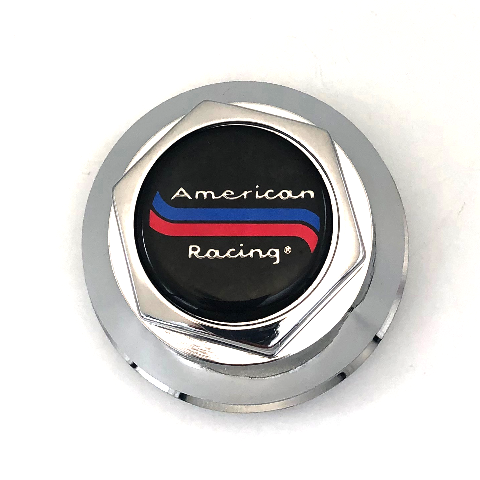"American Racing Wheel Center Hub Cap 3"" OD Snap In Chrome 898005A Old Logo CP200"