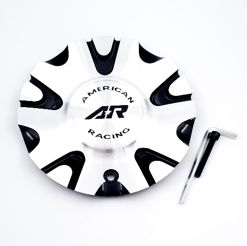 "American Racing Machined/Black 18"" 6x135/6x139.70 Wheel Center Cap fits AR897"