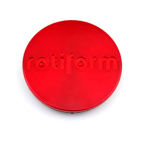 """Rotiform Candy Red Wheel Center Hub Cap 2.36"""" Snap In 1003-40R"""