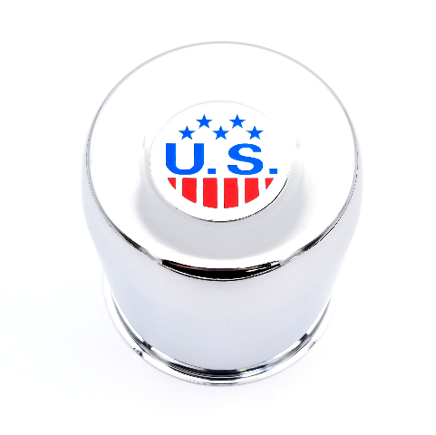 US Mags Chrome 5 Lug Push Thru Center Cap fits Indy-U101 Truck Wheels