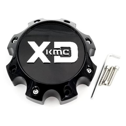KMC XD Gloss Black Wheel Center Cap fits XD831 Chopstix Part# 1079L170GB1-H50