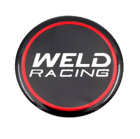 Weld Racing 601-3010 Gloss Black Wheel Center Cap Racing Emblem / Logo