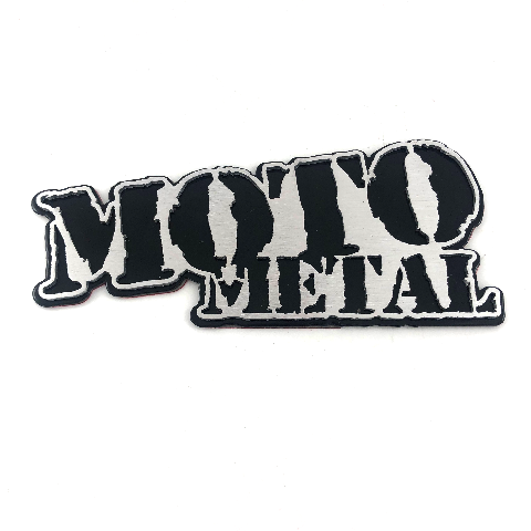 "Moto Metal Badge 5.5"" Self Adhesive Back for Fenders Side Panel Tailgate Toolbox"