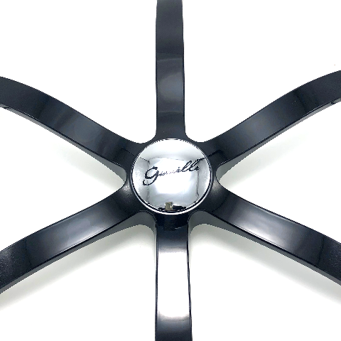 Gianelle 6 Spoke Gloss Black Wheel Insert with Chrome Center Cap