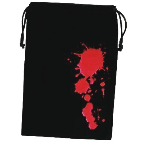 "Fantasy Flight Games Dice Bag Blood 6.25"" x 9"" Black & Red with Drawstring"