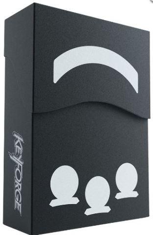 KeyForge: Aries Deck Box - Black w/ Faction Sticker Set