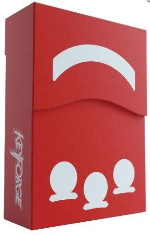 KeyForge: Aries Deck Box - Red w/ Faction Sticker Set