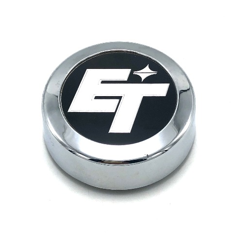 "E-T Mag Wheel Center Hub Cap 2.75"" OD Bolt On Chrome Black Machined B-3000"