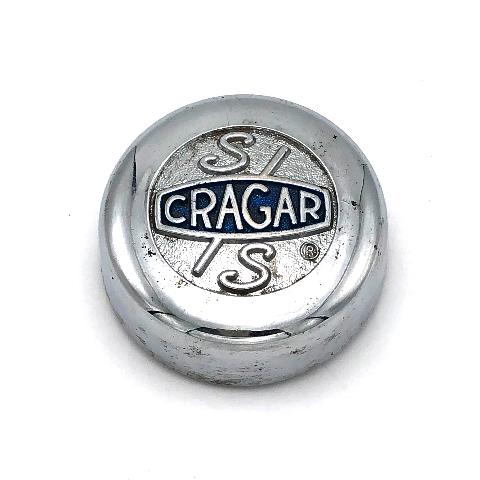 "Classic SS Cragar S/S 13"" Wheel Center Hub Cap 2.75"" OD Metal Chrome 29025"