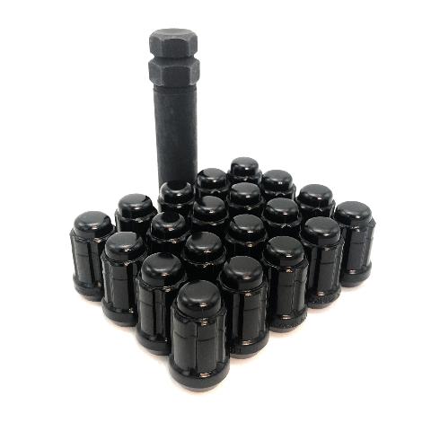 "Gorilla 5 Lug Wheel Installation Kit Set of 20 1/2"" x 20 Spline Lug Nuts + Key"