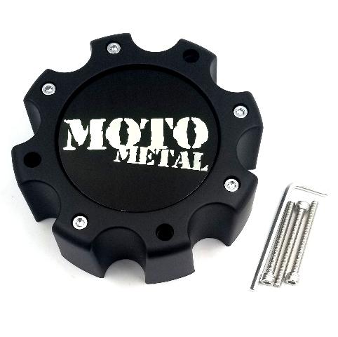 Moto Metal Satin Black 8 Lug Wheel Center Cap for MO959 MO961 Wheels 845L172S3