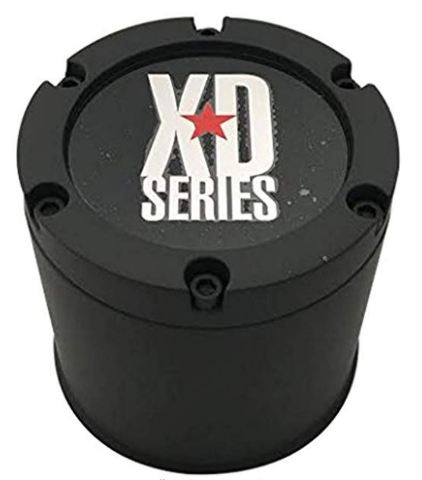 KMC XD Series Matte Black Center Cap for XD123 BULLY Wheels  P/N 151500XDA