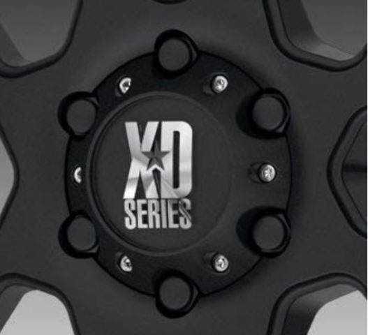 KMC XD Matte Black 6 Lug Bolt On Center Cap fits XD835 XD834 XD831 Wheels