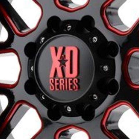 KMC XD Gloss Black w/ Red Logo 6x5.5 Bolt On Center Cap fits XD820 Wheels