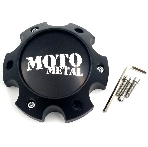 Moto Metal Matte Black 6x5.5 Bolt On Center Cap for MO202 MO975 MO978 Wheels