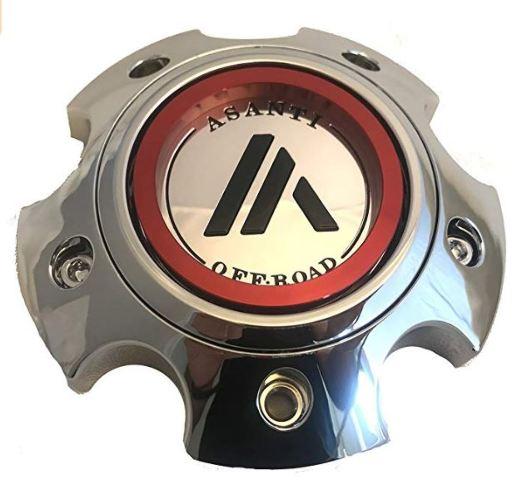 Asanti Chrome 5Lug Center Cap for AB810 Ballistic AB812 Claymore Wheels