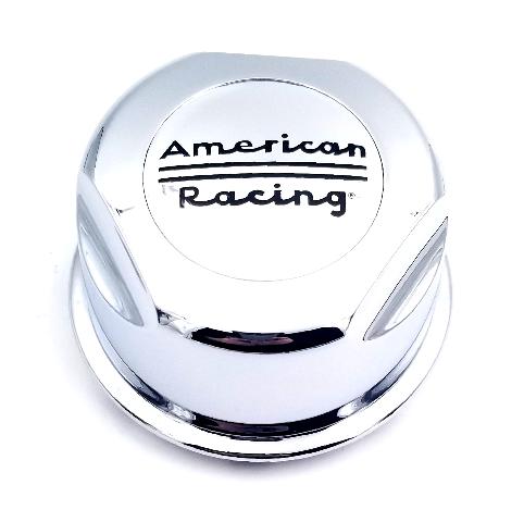 American Racing Chrome 6 Lug Push Thru Cetner Cap for AR172 Baja AR62 Outlaw II