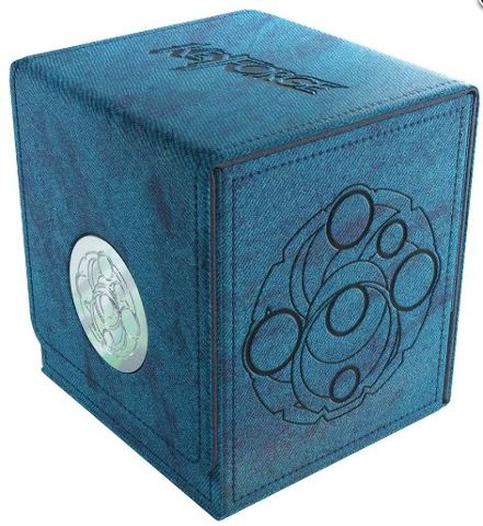 Key Forge Blue Vault Deck Box w/ Drawer for Accessories