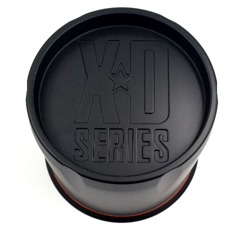 KMC XDS Satin Black 8 Lug Push Thru fits XD301 Turbine Wheels P/N: 1515006026
