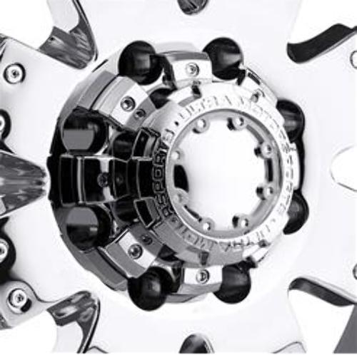 Ultra Wheel Center Hub Cap 8 Lug Chrome Bolt On for 8x6.5 8x165.1 89-9879