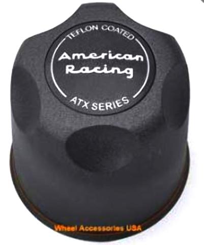American Racing ATX Teflon Black Push Thru 5x5.5 6x5.5 Center Cap P/N 1425006022