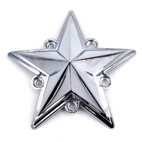 KMC XD Chrome Single Replacement Star XD775 Rockstar Center Caps XDSTAR-CH-PK