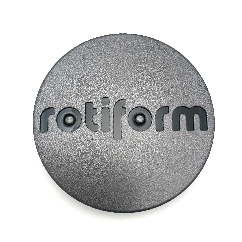 "Rotiform Anthracite Gray & Black Wheel Center Hub Cap 2.36"" Snap In 1003-40MVBL"
