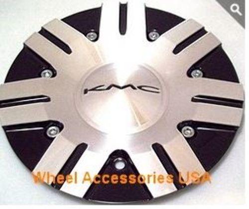 KMC Aluminum/Black Bolt On Center Cap for all 665 Surge Wheels P/N 378L191BAL