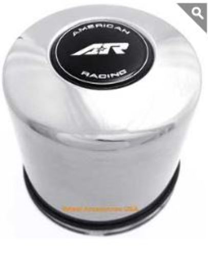 American Racing Stainless Steel Push Thru Wheel Center Cap P/N: 1515091SS