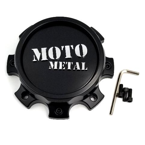 Moto Metal Satin Black 8Lug  Bolt-On Wheel Center Cap for MO995 Wheels