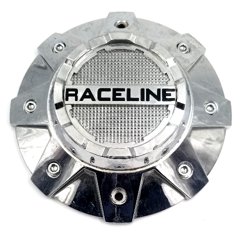 Raceline Chrome Bolt-On 8Lug Center Cap for 912B/912M Cobra Wheels P/N: C119A