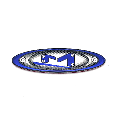Moto Metal Replacement Blue Oval Logo Emblem Sticker for 5x4.5 5x5 Center Caps