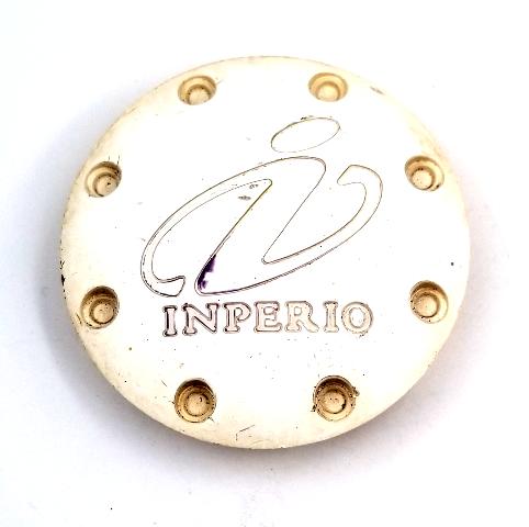 """Inperio White Snap In 2.42"""" Dia Wheel Center Cap P/N: CAP419"""