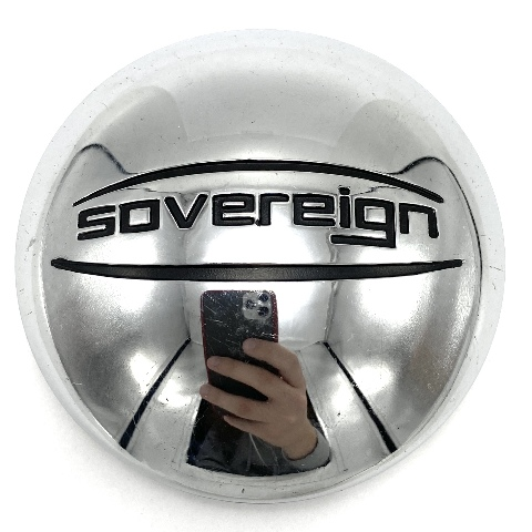"""Sovereign Wheels Chrome Aftermarket Snap In Wheel Center Cap 3"""" OD 60862085F-1"""
