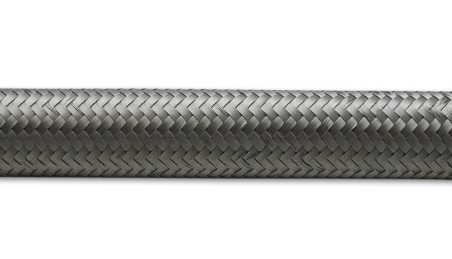 Hose - Steel-Flex - 6 AN - 20 ft - Braided Stainless - Rubber - Natural - Each