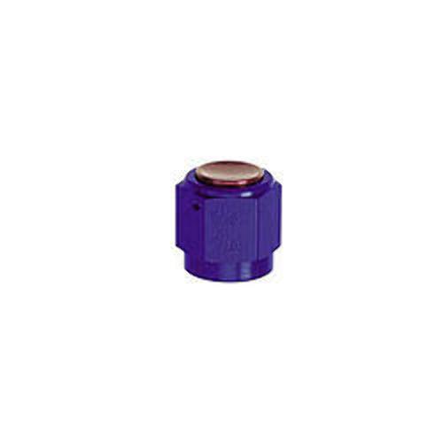 Fitting - Cap - 3 AN - Aluminum - Blue Anodize - Each