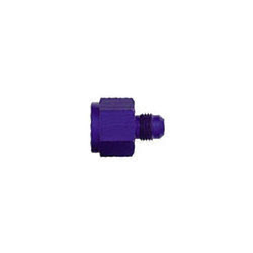 Fitting - Adapter - Straight - 10 AN Female to 6 AN Male - Aluminum - Blue Anodize - Each