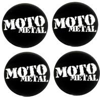 4x Moto Metal Lrg Black Center Cap Logo 5x4.5/5x5.0 MO957 MO958 MO959 MO960 MO961