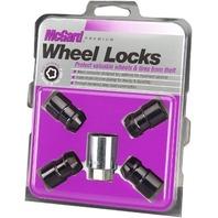 "McGard 24038 Chrome/Black Cone Seat Wheel Locks (1/2""-20 Thread Size) - Set of 4"