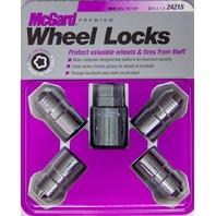 Set of 4 McGard 24215 Chrome 14 x 1.5 Thread Size Cone Seat Wheel Lock Set + Key