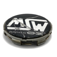 """MSW Designed by OZ Racing Aftermarket  Chrome Black Center Cap 2.5"""" OD5711175F-2"""