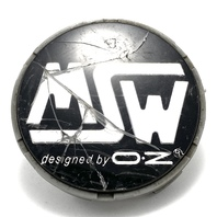 "MSW Designed by OZ Racing Aftermarket  Chrome Black Center Cap 2.5"" OD5711175F-2"