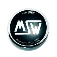 MSW Chrome Black Wheel Center Cap fits Type 85,73,71,55 15in & 17in P/N: XC566VW