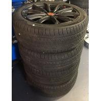 "Set 4 Fits Hyundai Tuson 19"" Black Ops Edition Rays Versus Kumho Tires 245/45R19"