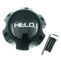 Helo Gloss Black Wheel Center Hub Cap 6 Lug 6x139.7 6x5.5 for HE879 HE900