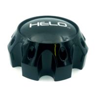 "Helo Gloss Black Center Cap 6.75"" 8 Lug for HE878 HE879 HE900 HE901 HE904"