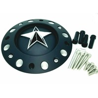 "KMC XD Series Rockstar Matte Black Center Cap 16"" 17"" Dually 775L239B A0157"