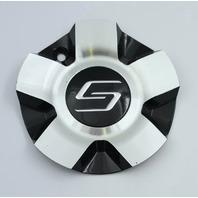 Sacchi Wheels Machined/Black Wheel Center Cap Part# C10272B03