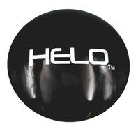 "Helo 4 1/2"" (114mm) OD Satin Black Wheel Center Hub Cap Logo/Sticker for 8 Lug"